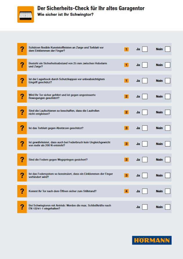 Sicherheitscheck Schwingtor PDF