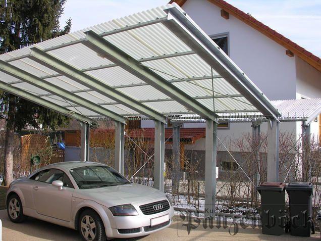 Ein maßgefertigter Carport aus Stahl oder Aluminium