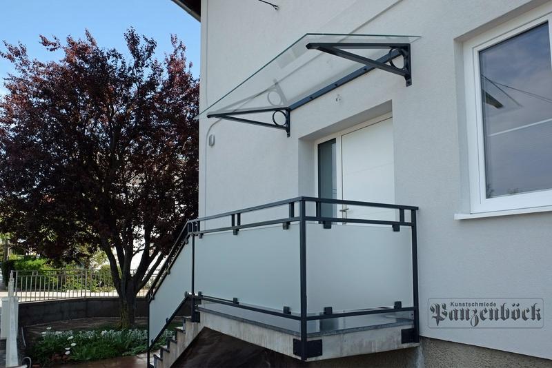 Geländer Glas-Satinato